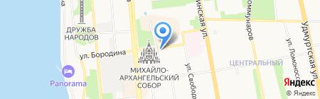 Светёлка на карте Ижевска
