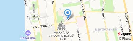 Музейно-выставочный комплекс стрелкового оружия им. М.Т. Калашникова на карте Ижевска