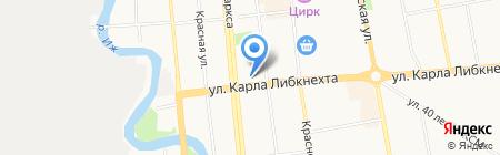 Хауберк на карте Ижевска