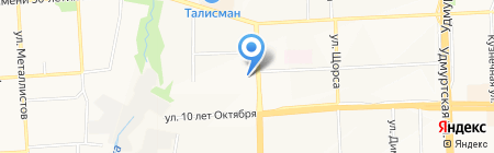 Котэ на карте Ижевска
