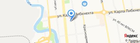 Полис на карте Ижевска