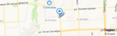 Глазовская водка на карте Ижевска