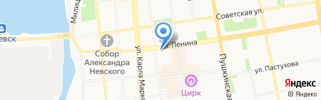 Время на карте Ижевска