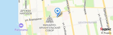 Индустрия развлечений на карте Ижевска