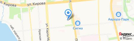 Юбилейная на карте Ижевска
