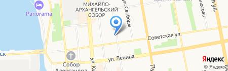 Ежевик на карте Ижевска