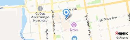 Фанат на карте Ижевска