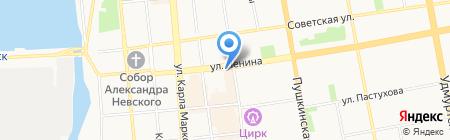 Туристический мир на карте Ижевска