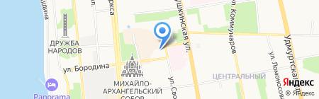 АКБ Ижкомбанк на карте Ижевска