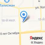 Пушкинский на карте Ижевска