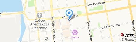Находка на карте Ижевска