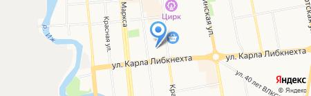 Ветеринарная лечебница Первомайского района на карте Ижевска