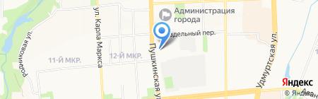 Прикампромпроект на карте Ижевска