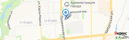 Агентство конкурсных технологий Удмуртской Республики на карте Ижевска