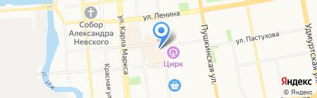 Оглоблинъ на карте Ижевска