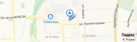 Сага-пресс на карте Ижевска
