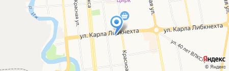 Пятисотка на карте Ижевска