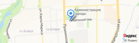 Строймаркет на карте Ижевска