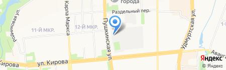Фуд-сервис на карте Ижевска