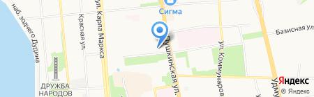 Укати на карте Ижевска