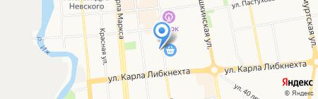 Центр на карте Ижевска