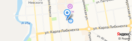 Vista на карте Ижевска