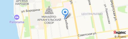 Нефтяник Удмуртии на карте Ижевска