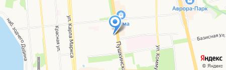 Акулетта на карте Ижевска