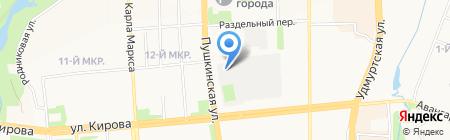 Промтех на карте Ижевска
