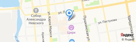 Алмаз-Холдинг на карте Ижевска