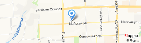 Крокус на карте Ижевска