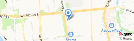 Урал на карте Ижевска
