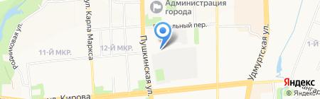 Бинури на карте Ижевска