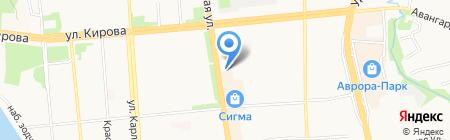 Акцент магазин головных уборов на карте Ижевска
