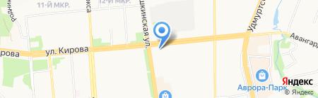 Почтовое отделение №8 на карте Ижевска
