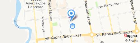 Деньгимигом на карте Ижевска