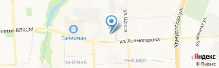 Радио DFM Ижевск 107 на карте Ижевска