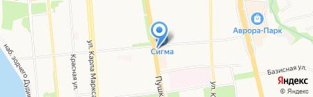 Шаверма GRILL на карте Ижевска