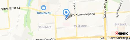 Детский сад №135 на карте Ижевска