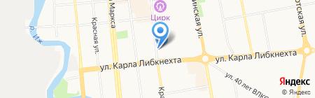 Березка на карте Ижевска