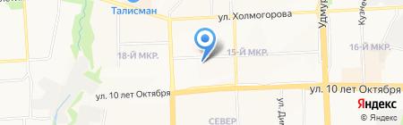 Детский сад №288 на карте Ижевска
