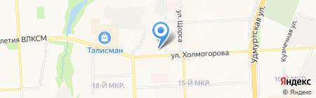 Indigo на карте Ижевска