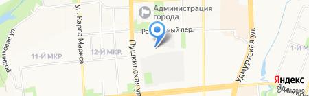 Юридический кабинет на карте Ижевска