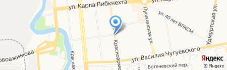 Деревенские продукты на карте Ижевска