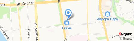 Камни-Самоцветы на карте Ижевска