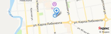 Дельфин на карте Ижевска