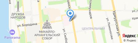 Консультативно-диагностический центр на карте Ижевска