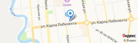 Зайка на карте Ижевска