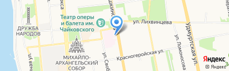 Пункт продажи бифидопродукции на карте Ижевска