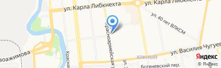 Октябрьская на карте Ижевска